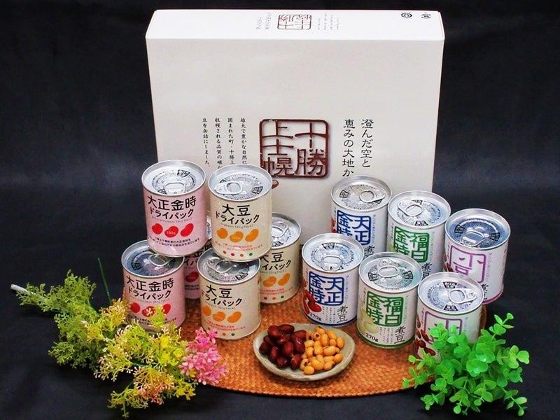 <産地直送JAタウン> 十勝上士幌 煮豆&ドライパック12缶入ギフトセット(料理レシピ付)画像