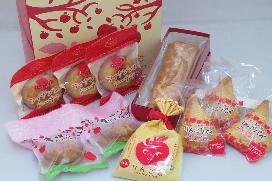 4種のりんご焼き菓子とりんご茶のセット