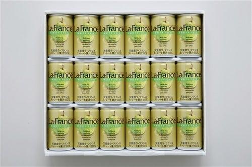 お中元にも ラ・フランスフルーツ100%ジュース(18缶入)