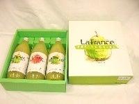 お中元にも ラ・フランス2本&りんご1本ジュースセット