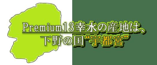 """Premium13幸水の産地は、下野の国""""宇都宮"""""""
