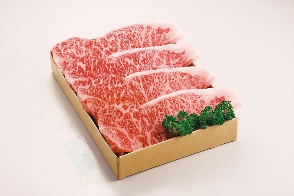 <産地直送JAタウン> おかやま千屋牛 ロースステーキ(4枚入)画像